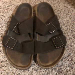 Size 40 Brown leather Birks